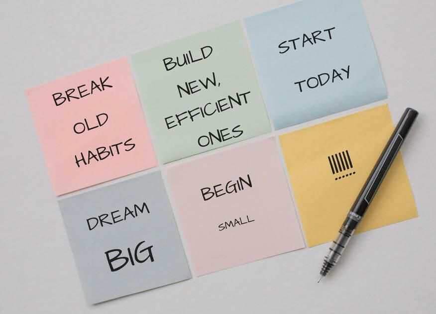Nieuwe werkgewoontes creëren