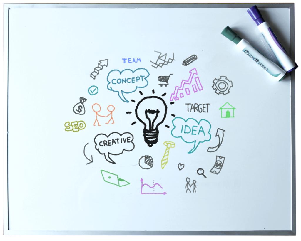 Digitaal brainstormen met whiteboard app