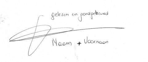 digitale handtekening evelien naam goedgekeurd