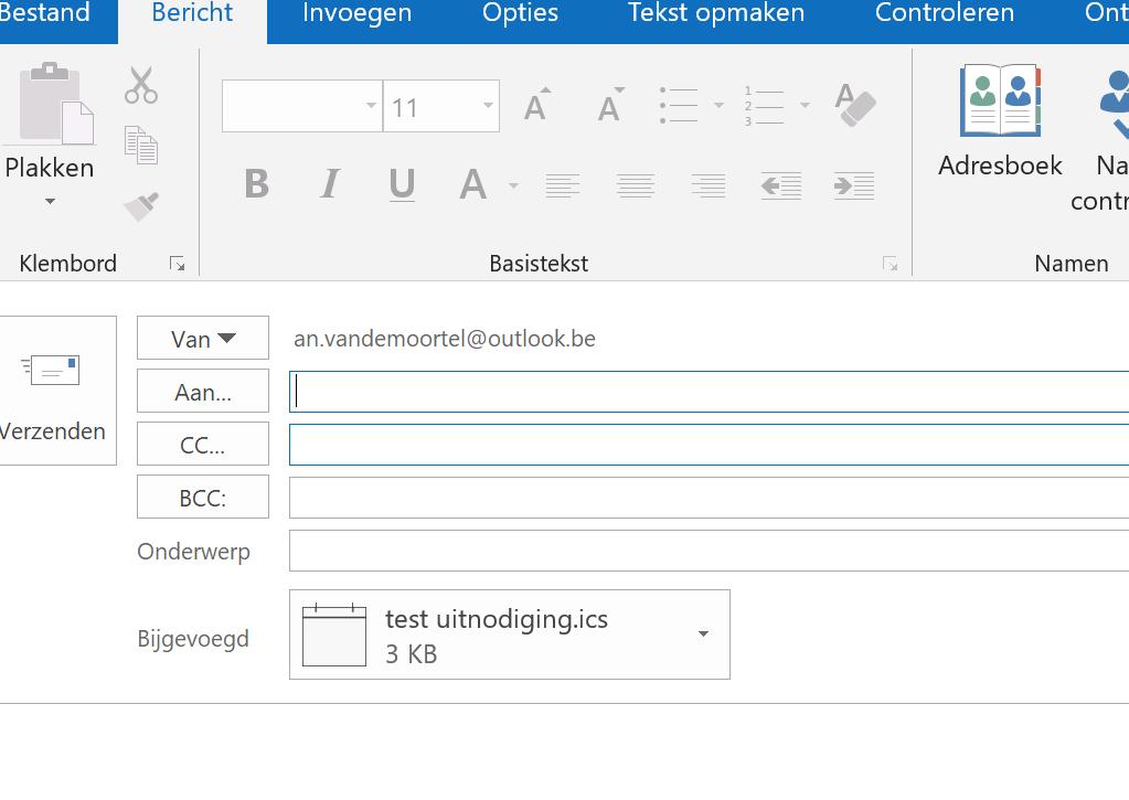 uitnodiging maken mail